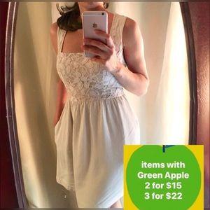 Cooperative dress sz 0 lace dress off white